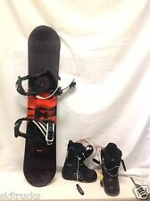 KIDS Head Ghost Snowboard 110cm Chopper Bindings, Burton Boots(FITTING W INFO