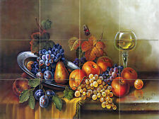 24 x 18 Art Mural Ceramic Fruit Backsplash Tile #465