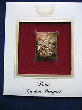 2004 Love Garden Bouquet FDC FDI replica 22kt Gold GOLDEN Cover Replica Stamps