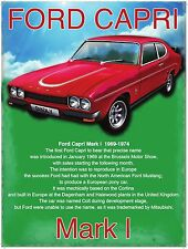 Ford Capri GT Mark 1 Classic/Vintage Sports Car Medium Metal/Tin Sign