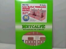 METCALFE PN 176 Low Relief Terraced House Backs Red Brick  Style N Scale