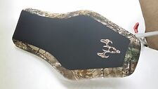 Kawasaki prairie 650 700 camo GRIPPER seat cover with buck logo
