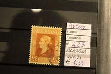 STAMPS FRANCOBOLLI OLANDA USATI N. 425 (A69000)