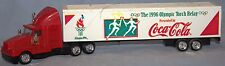 """Coca-Cola, Coke 9 1/2"""" Red Tractor Trailer Truck-""""1996 Olympic Torch Relay"""""""