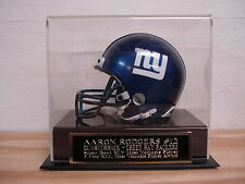 Mini Helmet Display Case With An Aaron Rodgers Packers Engraved Nameplate