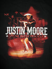 """JUSTIN MOORE """"Off the Beaten Path"""" Concert Tour (MED) T-Shirt"""
