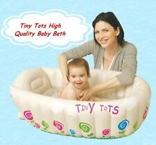 TINY TOTS INFLATABLE BABY BATH TUB HEAT SENSOR TRAVEL INFANT WASHING TUB