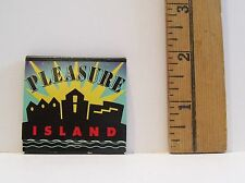 VINTAGE PLEASURE ISLAND ADVERTISING MATCHBOOK WITH MATCHES