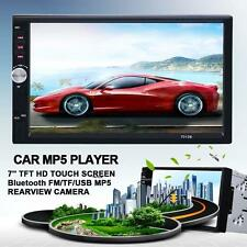 "2 Din 7"" Car FM/MP5 Player Touch Screen In Dash Stereo Radio Bluetooth 7012B SS"