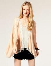 NWT Winter Kate by Nicole Richie nude LACE CONDOR BED JACKET Vintage Silk S