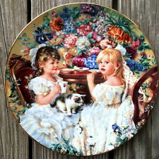 The Tea Party by Sandra Kuck, Hearts and Flowers Plate Collection, RECO 1991 USA