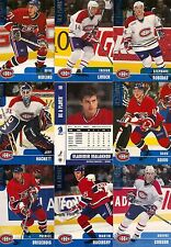 1999-00 BAP Be A Player Memorabilia Montreal Canadiens Complete Team Set (12)