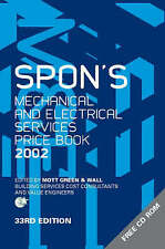 Spon's Mechanical and Electrical Services Price Book 2002 Mott Green Spons 33rd