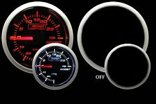 "Prosport-ELECTRIC BOOST GAUGE-Amber & White 2 1/16"" 52mm"
