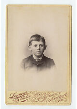 CAB PHOTO PORTRAIT OF A BOY IN GREAT SUIT FROM NEWPORT, PA, BY LENNEYS