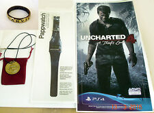 Uncharted 4 A Thief's End Pappwatch (Paper Watch), Pendant, Ring & Sticker Rare