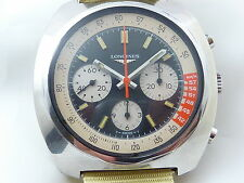 LONGINES CHRONOGRAPH VALJOUX 726  DELUXE DIAL SUPERB CONDITION RARE VINTAGE 70s