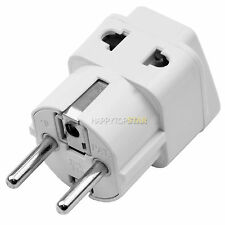 3/2 Pin Outlet Socket to Germany France South Korea 5mm AC Plug Adaptor Adapter