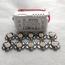 10PCS 3W Full Spectrum 400NM~840NM LED Grow Light KIT With 10x3W Led Driver