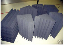 Dark Charcoal Acoustic Studio Foam 6 Base Absorbers Traps and 6 Wedge Tiles