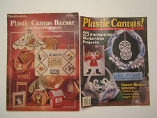 Plastic Canvas Magazine Pattern Leaflets Winter Holiday Designs Bazaar Projects