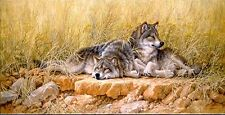 Larry Fanning End of Summer Gray Wolves AP Artist Proof Ltd Lithograph