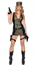 Special Ops Women's Sexy Army Costume Camo Military Halloween Size Medium