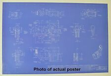 "AR-15 Rifle Lower Receiver Blueprint Poster 24""x36"""