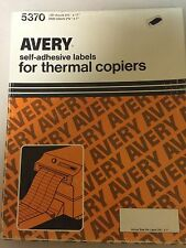 AVERY self-adhesive labels for thermal copiers # 5370 3300 labels 100 sheets