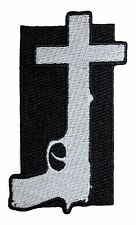 Nine Inch Nails God Given Band Art Year Zero Gun Cross Iron On Applique Patch