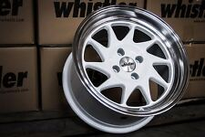 Whistler KR7 Wheels Rims 16x9 4x100 15 Offset White EG EK Civic Integra Scion xB