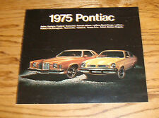 Original 1975 Pontiac Full Line Sales Brochure 75 Firebird Grand Prix LeMans