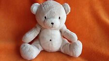 "H&M Beige Bear teddy bear soft toy baby comforter 7"" seated"