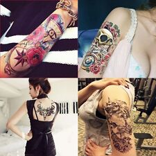 4 Sheets Temporary Tattoos Sticker Body Tattoo Paper Skull Bull Head Fake Tatoo
