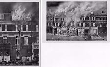 2 Great Fire at Brixton 1910 Morley & Lanceley  Advert for new shops old pcs