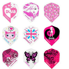 Harrows Diva Extra Strong Dart Flights - 5 Sets (15 Flights) 100 Micron Thick
