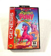 NEW SEALED Crystal's Pony Tale Sega Genesis Video Game NICE 1994 Club Game