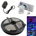 RGB 5M 3528 LED Strip Light 300leds + 44key Remote Controller + 12V Power Supply