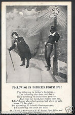 Written Word Postcard - Following In Father's Footsteps!  RS1019