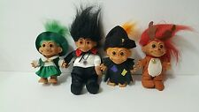 Russ Berrie and Co Troll Dolls Halloween Lot of 4