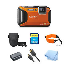 Panasonic Lumix DMC-FT5 TS5 Digital Camera Orange!! PRO BUNDLE!! BRAND NEW!!
