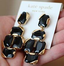 kate spade new york stepping stone black onyx drop earrings new with tags