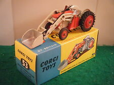 "Corgi No: 53 ""Massey-Ferguson 65 Tractor With Shovel"" - Red/Cream (Boxed)"