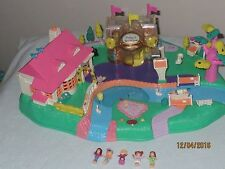 VTG BB Polly Pocket Magnetic Magical Movin House w 5 Figures! Complete! EUC!