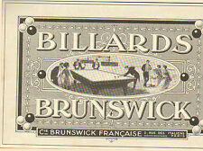 PARIS BLVD DES ITALIENS PUBLICITE BILLARDS BILLIARDS POOL BRUNSWICK 1913