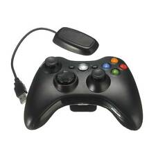 Black Pro Wireless Game Remote Controller + Free Receiver for Microsoft Xbox 360