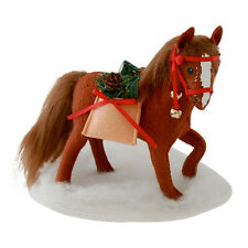 """MERRYMINT HORSE 8"""" Christmas Display Pony Decoration Sleigh Bells Annalee 2014"""