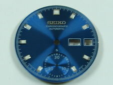 New BLUE Dial for SEIKO 6139 6002 6001 6002 6000 6005 PEPSI Single CHRONO Watch