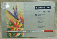 Staedtler Karat 12 Aquarell Watercolour Pencils ~ NEW ~ FREE SHIPPING