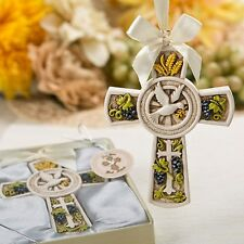 40 Holy Natures Harvest Themed Cross Ornament Christening Baby Shower Favors